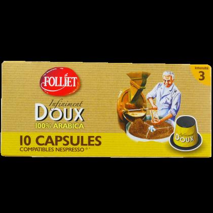 Capsules compatibles Nespresso DOUX x10