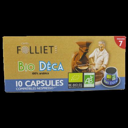 Capsules compatibles Nespresso Décaféiné X10