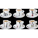 6 tasses et 6 sous tasses à café Alunya