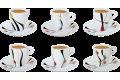 Lot de 6 tasses et 6 sous tasses Alunya