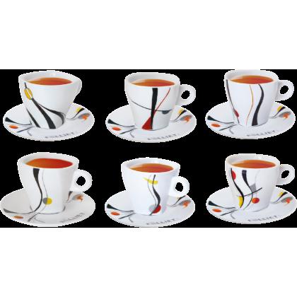 6 tasses et 6 sous tasses à thé ALUNYA
