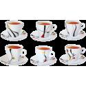 6 tasses et 6 sous-tasses à thé ALUNYA