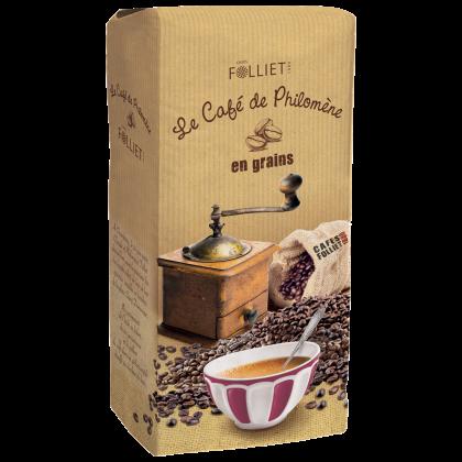 Café de PHILOMENE 100 % arabica en grains en pack de 1 kg